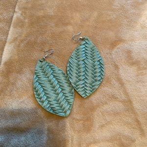 NWOT Lightweight Leather Earrings